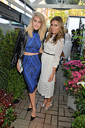 Left to right, ASHLEY ROBERTS and ZOE HARDMAN at a party to celebrate the launch of the Taylor Morris Eyewear's Summer Collection held at The Chelsea Gardner, 125 Sydney Street, London on 20th May 2015.