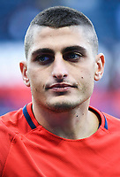 Marco Verratti of PSG during the Ligue 1 match between Paris Saint Germain and FC Girondins de Bordeaux at Parc des Princes on September 30, 2017 in Paris, . (Photo by Anthony Dibon/Icon Sport)