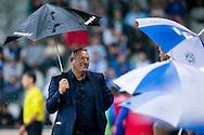 DOETINCHEM, de Graafschap - PEC Zwolle, voetbal, Eredivsie seizoen 2015-2016, 15-08-2015, Stadion De Vijverberg, PEC Zwolle trainer Ron Jans (L) is blij met de overwinning.