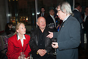 CLARA FISHER; STEPHEN BERKOFF; BILL WYMAN, Liberatum Cultural Honour  for John Hurt, CBE in association with artist Svetlana K-Lié.  Spice Market, W London - Leicester Square