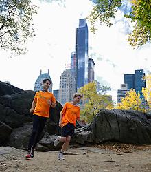 02-11-2013 ALGEMEEN: BVDGF NY MARATHON: NEW YORK <br /> Parcours verkenning en laatste training in het Central Park / Tijn en Bernd<br /> ©2013-FotoHoogendoorn.nl