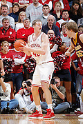 BLOOMINGTON, IN - JANUARY 12: Cody Zeller #40 of the Indiana Hoosiers looks for room with the ball against the Minnesota Golden Gophers at Assembly Hall on January 12, 2012 in Bloomington, Indiana. Minnesota defeated Indiana 77-74. (Photo by Joe Robbins)