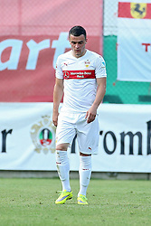 05.07.2015, Lindenstadion, Hippach, AUT, Testspiel, VfB Stuttgart vs FC Viktoria Pilsen, im Bild Filip Kostic (VfB Stuttgart) laeuft nach dem gegentreffer Enttaeuscht ueber den Platz // during a International Friendly Match between VfB Stuttgart and FC Viktoria Pilsen at the Lindenstadion in Hippach, Austria on 2015/07/05. EXPA Pictures © 2015, PhotoCredit: EXPA/ Eibner-Pressefoto/ Fudisch<br /> <br /> *****ATTENTION - OUT of GER*****