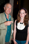 MARTIN ROWSON; ROSE ROWSON, Tate Britain Summer party. Tate. Millbank. 27 June 2011. <br /> <br />  , -DO NOT ARCHIVE-© Copyright Photograph by Dafydd Jones. 248 Clapham Rd. London SW9 0PZ. Tel 0207 820 0771. www.dafjones.com.