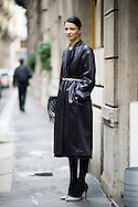 Natalia Osadcha on the street, Milan