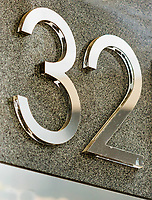Close up of house number 32