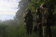 """Peter Foster, a british journalist and hunter is interviewed by Max Rowe..""""The Spring Gobbler"""" turkey hunting season in Augusta County, Virginia with Max Rowe, 42, of the Cable TV hunting programme """"Just Kill'n Time TV"""", and Freddy McGuire, who, according to Max, is """"the best Turkey hunter I know""""..The turkey season starts in mid-April and lasts for six weeks."""