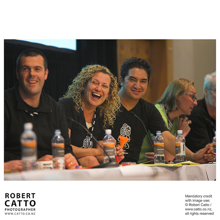 Gary Scott;Ant Farac;Nicole Hoey;Matai Smith at the Spada Conference 2005: Small Country, Big Picture at the Intercontinental Hotel, Wellington, New Zealand.