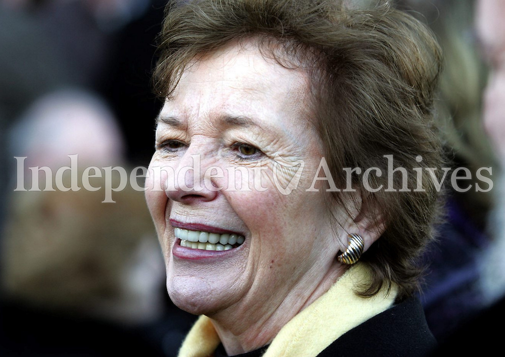 Former President, Mary Robinson at the funeral mass for Conor Cruise O'Brien in the Church of the Assumption, Howth, Co. Dublin,22 December 2008 <br /> (Part of the Independent Newspapers Ireland/NLI Collection)