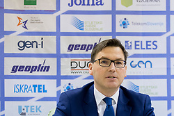 Roman Dobnikar, president of AZS at press conference of Athletic association Slovenia before IAAF World Indoor Championship Birmingham 2018, on February 22, 2017 in Ljubljana, Slovenia. Photo by Urban Urbanc / Sportida