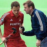 MELBOURNE - Champions Trophy men 2012<br /> Belgium v Netherlands<br /> foto: Coach Marc Lammers and Alexandre de Saedelaere.<br /> FFU PRESS AGENCY COPYRIGHT FRANK UIJLENBROEK