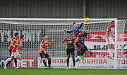 Barnet goalkeeper Jamie Stephens punches clear during the Sky Bet League 2 match between Barnet and Exeter City at The Hive Stadium, London, England on 31 October 2015. Photo by Bennett Dean.