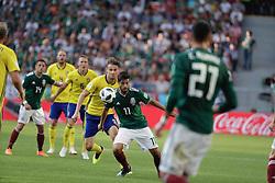 June 27, 2018 - EUM20180627DEP52.JPG.EKATERIMBURGO, Rusia, SoccerFutbol-Mundial México.- Aspectos del partido entre la Selección Mexicana y su similar de Suecia, la Arena de Ekaterimburgo, este 27 de junio de 2018, en donde los mexicanos cayeron 3-0; sin embargo, ambas selecciones pasaron a octavos de final de la Copa del Mundo. Foto: Agencia EL UNIVERSALLuis CortésMAR. (Credit Image: © El Universal via ZUMA Wire)