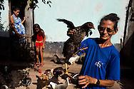 Junco do Maranhao, Brazil, June 25 of 2013:   Bolsa Familia em Junco do Maranhao. A família Maria Raimundo da Silva, 57, Daniele da Silva, 15 (gravida de 8 meses) e Shirlei da Silva, 10. (photo: Caio Guatelli)