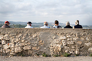 group of elderly people on a trip to the coast France Bages