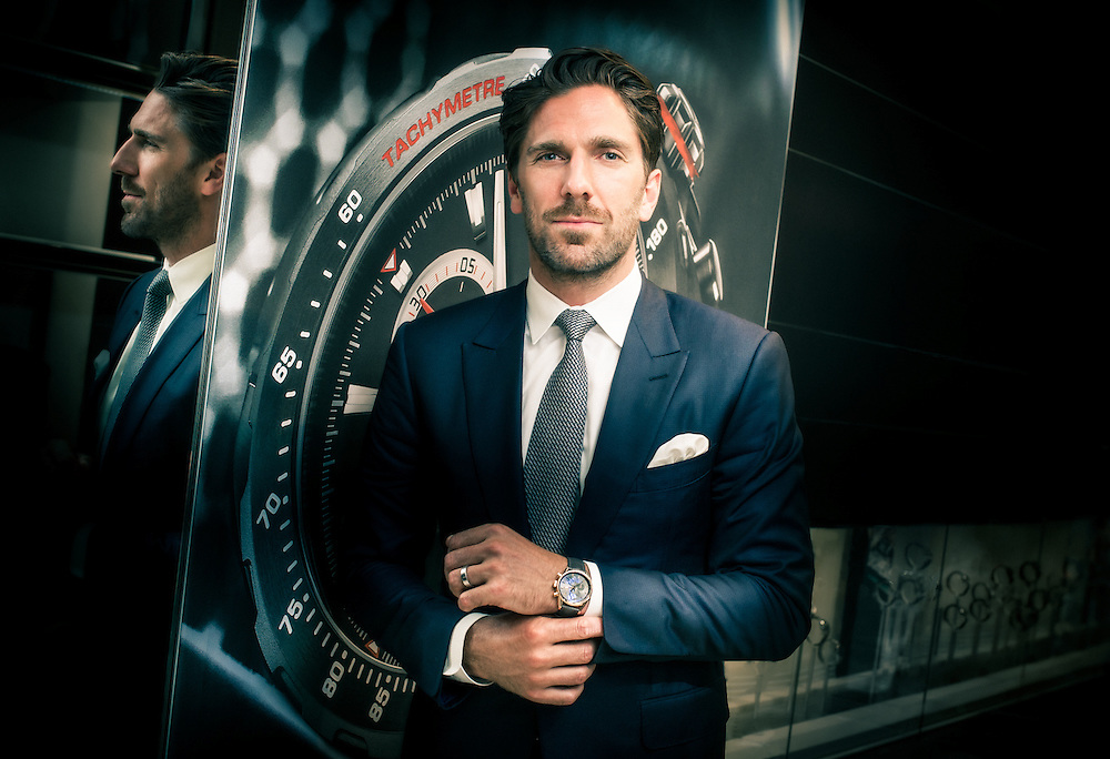 Henrik Björn Lundqvist at TAG Heuer NY Boutique