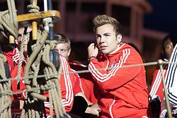 04.07.2013, Riva del Garda, Gardasee, ITA, FC Bayern Muenchen Trainingslager, im Bild Mario GOETZE (FC Bayern Muenchen) auf dem Schiff, // during the Trainings Camp of German Bundesliga Club FC Bayern Munich at the Riva del Garda, Lake Garda, Italy on 2013/07/04. EXPA Pictures © 2013, PhotoCredit: EXPA/ Eibner/ Alexander Neis<br /> <br /> ***** ATTENTION - OUT OF GER *****