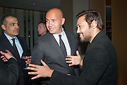 BILLY ZANE; PABLO GANGULI , Liberatum Cultural Honour  for John Hurt, CBE in association with artist Svetlana K-Lié.  Spice Market, W London - Leicester Square