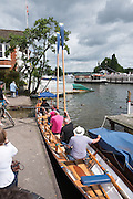 Henley on Thames. United Kingdom.      Sunday,  watermans cutter, Lady Penlope. 03/07/2016,      2016 Henley Royal Regatta, Henley Reach.   [Mandatory Credit Peter Spurrier/ Messing about on the River.