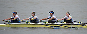 Hammersmith, Greater Game, London, UK. Imperial Coll V, W Elite 4X competing in the 2015 Fours Head of the River Race, River Thames [ opposite Chiswick Eyot]  Saturday  07/11/2015 <br /> <br /> [Mandatory Credit: Peter SPURRIER: Intersport Images]