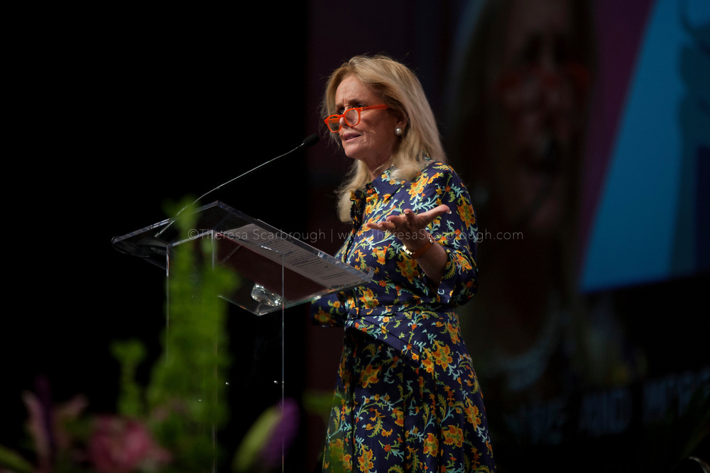 Detroit, Michigan, USA. 28th Oct, 2017. Congresswoman Debbie Dingell speaks at the Sojourner Truth Lunch during the Women's Convention held at the Cobo Center, Detroit Michigan, Saturday, October 28, 2017
