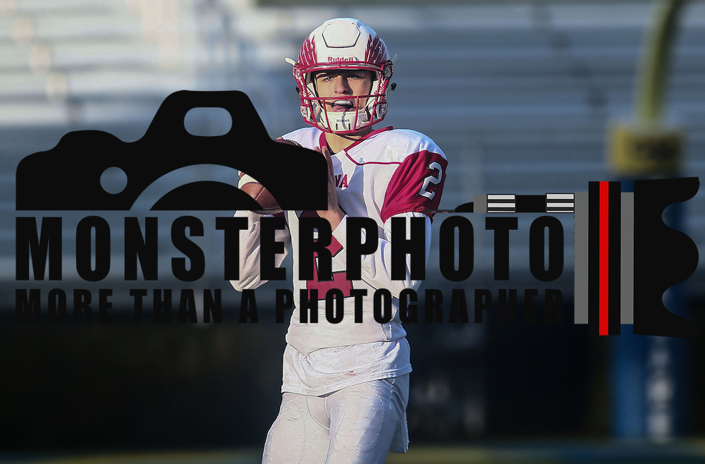 Smyrna quarterback Nolan Henderson (2) attempts a pass during the DIAA division one Football Championship game between Top-seeded Middletown (11-0) and second-seeded Smyrna (11-0) Saturday, Dec. 03, 2016 at Delaware Stadium in Newark.