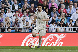 March 16, 2019 - Madrid, Madrid, Spain - Real Madrid's Marco Asensio seen in action during La Liga match between Real Madrid and Real Club Celta de Vigo at Santiago Bernabeu Stadium in Madrid, Spain. (Credit Image: © Legan P. Mace/SOPA Images via ZUMA Wire)