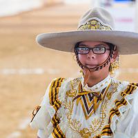GUADALAJARA , MEXICO - SEP 01 : Charra participates at the 23rd International Mariachi & Charros festival in Guadalajara Mexico on September 01 , 2016.