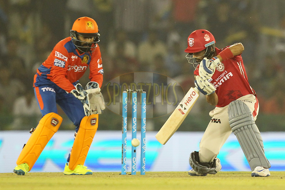 Manan Vora of Kings XI Punjab in action during match 3 of the Vivo Indian Premier League ( IPL ) 2016 between the Kings XI Punjab and the Gujarat Lions held at the IS Bindra Stadium, Mohali, India on the 11th April 2016Photo by Prashant Bhoot/ IPL/ SPORTZPICS