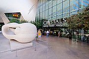 The Crystals, also known as Crystals at CityCenter and Crystals Retail District, is CityCenter's 500,000 sq ft (46,000 m2) shopping mall and entertainment district that features fashionable clubs, gourmet restaurants, retailers, galleries, incidental offices and support areas. Located on the Las Vegas Strip in Paradise, Nevada