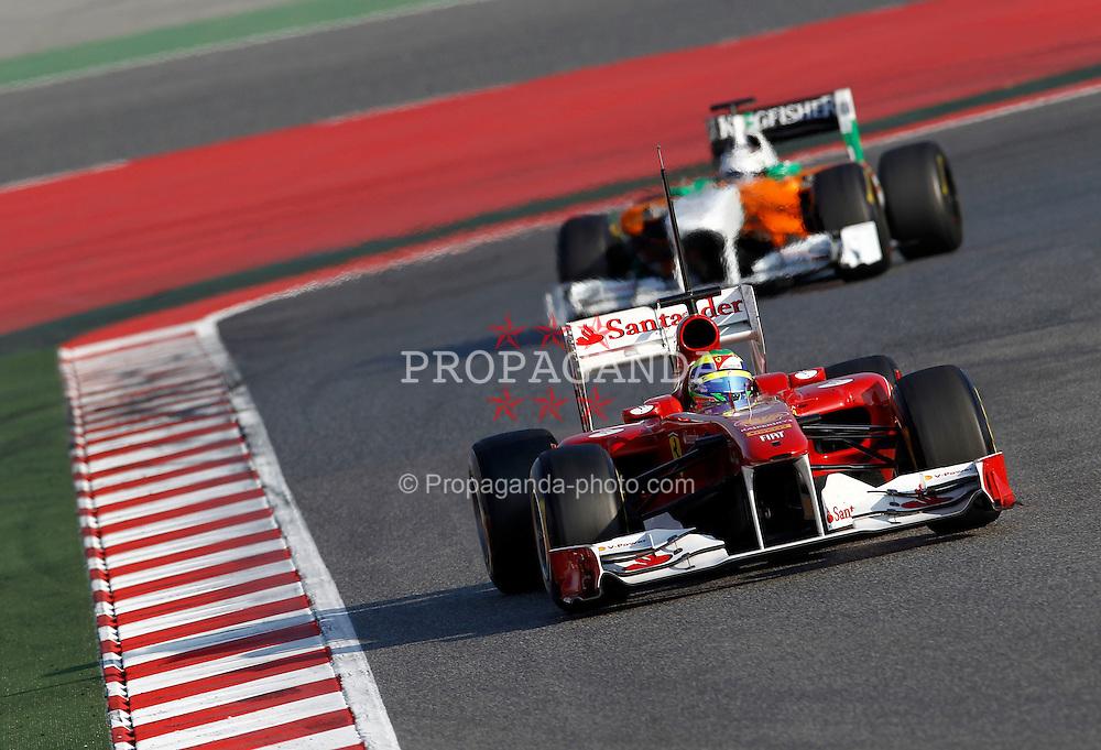 Motorsports / Formula 1: World Championship 2011, Testing in Barcelona, test, 06 Felipe Massa (BRA, Scuderia Ferrari Marlboro),  14 Adrian Sutil (GER, Force India F1 Team),