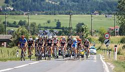 10.07.2015, Leogang, AUT, Österreich Radrundfahrt, 6. Etappe, Lienz auf das Kitzbühler Horn, im Bild das Feld // the peloton during the Tour of Austria, 6th Stage, from Lienz to the Kitzbühler Horn, Leogang, Austria on 2015/07/10. EXPA Pictures © 2015, PhotoCredit: EXPA/ JFK