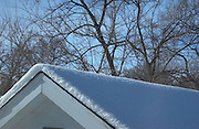 Ames,Iowa,USA Snowy and cold,crisp and clear with blue sky