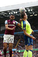 Aston Villa v Derby County - Sky Bet Championship<br /> BIRMINGHAM, ENGLAND - APRIL 28 :  Aston Villa's Ahmed Elmohamady and Derby County's Craig Forsyth, challenge for the ball