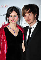 © Licensed to London News Pictures. 10/02/2012. London, England. Richard Jones and  Sophie Ellis Bextor attends a private dinner ahead of sundays Bafta awards hosted by William Banks-Blaney of WilliamVintage and actress Gillian Anderson at St Pancras Renaissance Hotel London  Photo credit : ALAN ROXBOROUGH/LNP