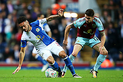 Derrick Williams of Blackburn Rovers and Robbie Brady of Burnley - Mandatory by-line: Matt McNulty/JMP - 23/08/2017 - FOOTBALL - Ewood Park - Blackburn, England - Blackburn Rovers v Burnley - Carabao Cup - Second Round