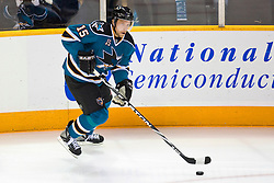 April 29, 2010; San Jose, CA, USA;  San Jose Sharks left wing Dany Heatley (15) against the Detroit Red Wings during the first period of game one of the western conference semifinals of the 2010 Stanley Cup Playoffs at HP Pavilion. San Jose defeated Detroit 4-3. Mandatory Credit: Jason O. Watson / US PRESSWIRE