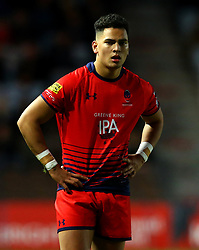 Afeafe Haisila Lokotui of Worcester Warriors - Mandatory by-line: Robbie Stephenson/JMP - 12/11/2017 - RUGBY - Twickenham Stoop - London, England - Harlequins v Worcester Warriors - Anglo-Welsh Cup