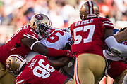 The San Francisco 49ers defense holds off the New York Giants offense at Levi's Stadium in Santa Clara, Calif., on November 12, 2017. (Stan Olszewski/Special to S.F. Examiner)
