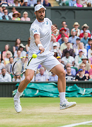 WIMBLEDON - GB -  4th July 2016: The Wimbledon Tennis Championship continues at the All England Lawn Tennis Club in S.E. London.<br /> <br /> Roger FEDERER (Sui) vs Steve JOHNSON (USA)<br /> <br /> Photo by Ian Jones