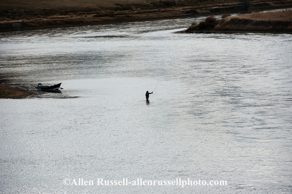 Fly fishermen on missouri river north of holter lake in for Missouri river fly fishing