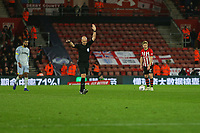 Football - 2018 / 2019 FA Cup - Third Round Replay: Southampton vs. Derby County<br /> <br /> Referee Mr Anthony Taylor disallows Derbys goal due to a VAR decision for offside at St Mary's Stadium Southampton<br /> <br /> COLORSPORT/SHAUN BOGGUST