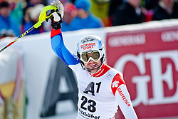27.01.2013, Ganslernhang, Kitzbuehel, AUT, FIS Weltcup Ski Alpin, Slalom, Herren, 1. Lauf, im Bild  Markus Vogel (SUI) // Markus Vogel of Switzerland // in action during 1st run of the  mens Slalom of the FIS Ski Alpine World Cup at the Ganslernhang course, Kitzbuehel, Austria on 2013/01/27. EXPA Pictures © 2013, PhotoCredit: EXPA/ Markus Casna
