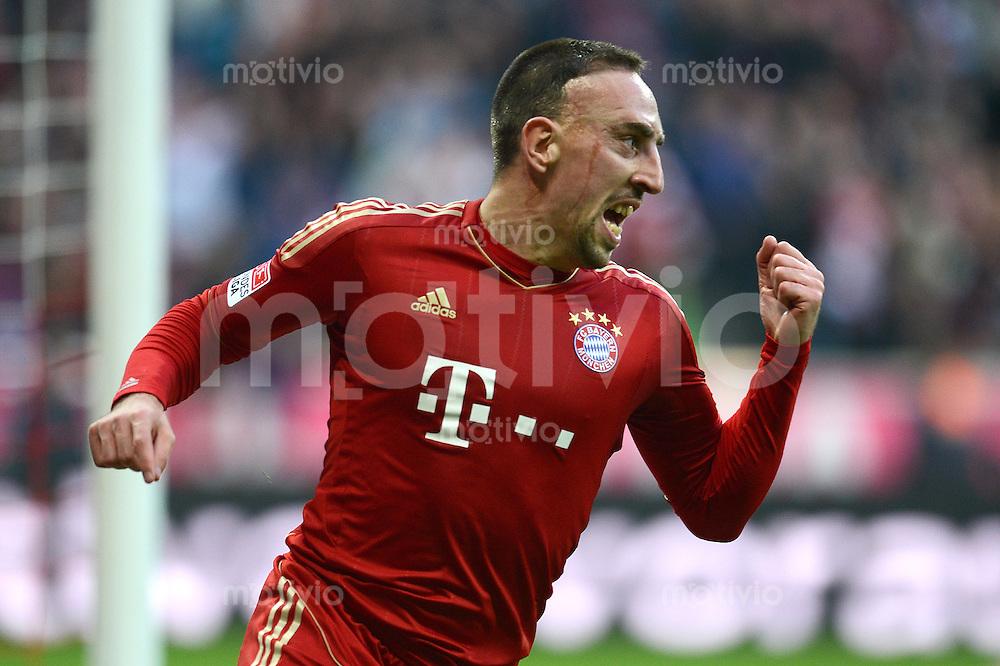 FUSSBALL   1. BUNDESLIGA  SAISON 2012/2013   11. Spieltag FC Bayern Muenchen - Eintracht Frankfurt    10.11.2012 Jubel Franck Ribery (FC Bayern Muenchen)