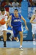 ATENE,  21 AGOSTO 2004<br /> OLIMPIADI ATENE 2004<br /> BASKET,<br /> ITALIA - CINA<br /> NELLA FOTO: MATTEO SORAGNA<br /> FOTO CIAMILLO