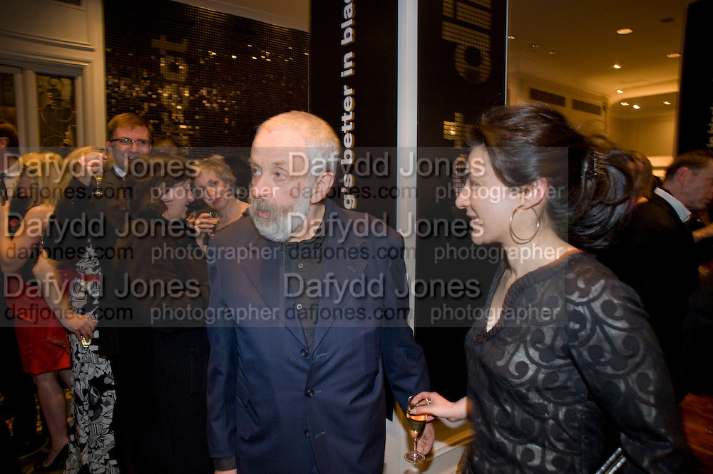 Mike Leigh;  Alexis Zegerman, The London Critics' Circle Film Awards 2009 in aid of the NSNCC. Grosvenor House Hotel . Park Lane. London. 4 February 2009 *** Local Caption *** -DO NOT ARCHIVE -Copyright Photograph by Dafydd Jones. 248 Clapham Rd. London SW9 0PZ. Tel 0207 820 0771. www.dafjones.com<br /> Mike Leigh;  Alexis Zegerman, The London Critics' Circle Film Awards 2009 in aid of the NSNCC. Grosvenor House Hotel . Park Lane. London. 4 February 2009