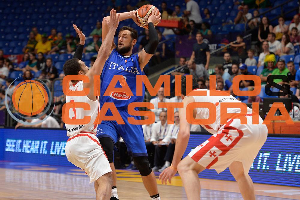 Marco Belinelli<br /> Nazionale Italiana Maschile Senior<br /> Eurobasket 2017 - Group Phase<br /> Georgia Italy Italia<br /> FIP 2017<br /> Tel Aviv, 06/09/2017<br /> Foto Ciamillo - Castoria/ Ivan Mancini