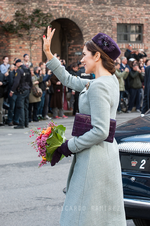 03.10.2017. Copenhagen, Denmark. <br /> Crown Princess Mary leaves the Danish Parliament at Christiansborg Palace in Copenhagen, Denmark.<br /> Photo: © Ricardo Ramirez