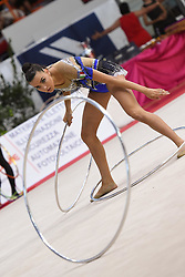 July 28, 2018 - Chieti, Abruzzo, Italy - Rhythmic gymnast Alessia Maurelli captain of the Italian  Farfalle during the Rhythmic Gymnastics pre World Championship Italy-Ukraine-Germany at Palatricalle on 29th of July 2018 in Chieti Italy. (Credit Image: © Franco Romano/NurPhoto via ZUMA Press)