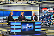 "The broadcasting team for Fox Sports ""Race Day""  and  ""Victory Lane"" , which is broadcast from the Charlotte, North Carolina studios,  is  made up of John Roberts,  Jeff Hammond, and Kenny Wallace."